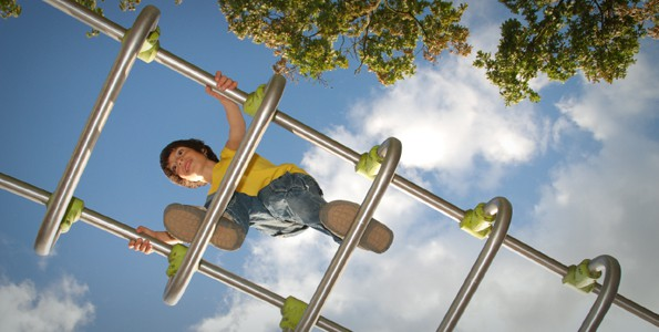 Taking risks on the playground