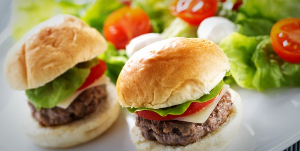 Four bite burgers