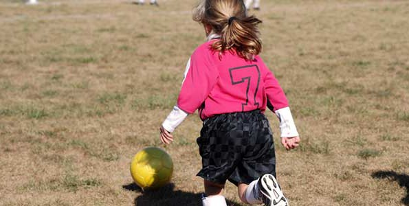 Soccer: Skills before games for child players