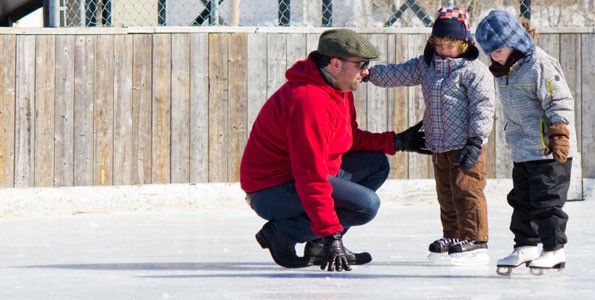 My family ventures onto the ice for a New Year's Day skate