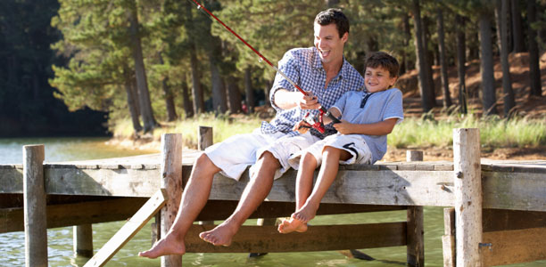7 ways dads influence their active kids active for life for Father son fishing