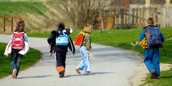 Put on some sneakers in celebration of International Walk to School Month