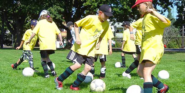 Soccer camp in Victoria, B.C.