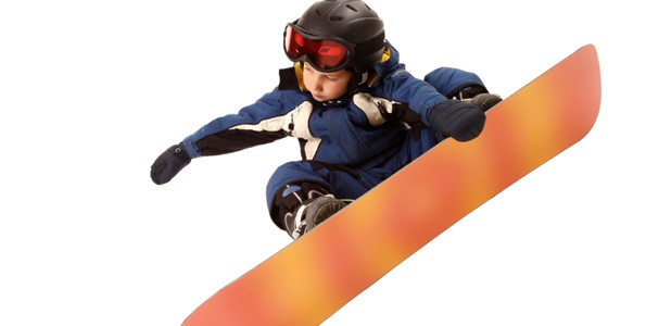 Du snowboard dans un gymnase