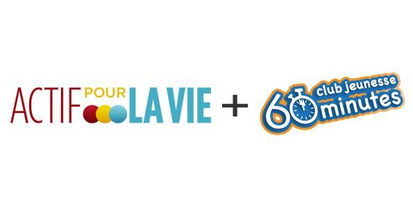 Actif pour la vie et le club jeunesse 60 minutes créent un partenariat pour la littératie physique