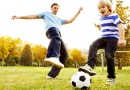 It's easy to play soccer with your kids
