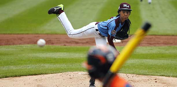 Mo'Ne Davis plays for the Taney Dragons from Pennsylvania