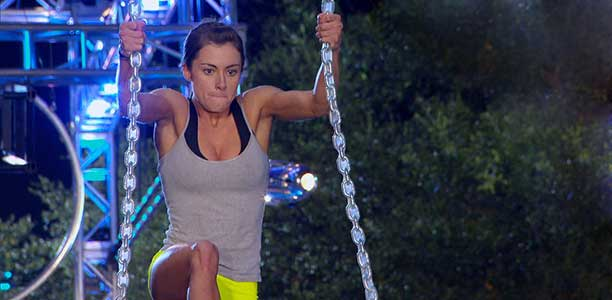 Kacy Catanzaro on the qualifying course for American Ninja Warrior