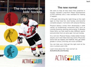 Postcard created by Active for Life and Hockey Canada