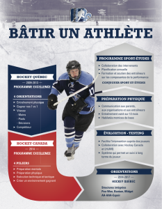 "Hockey Quebec's ""Build an athlete"" diagram"