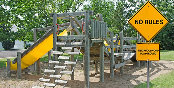 What happens when kids are in a playground with no rules?