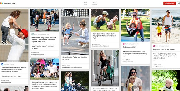 "Have you seen our ""Active celebrities and their active kids"" Pinterest board, yet?"