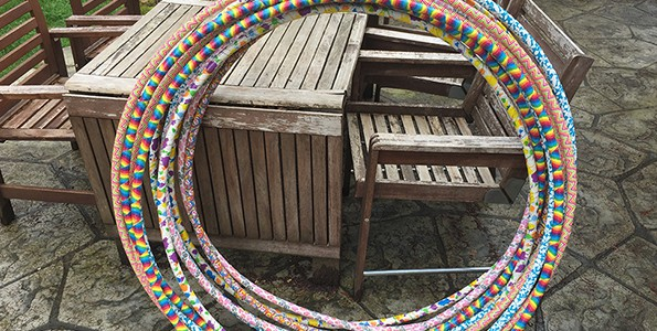 How to make hula hoops for an active birthday party