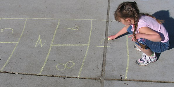 One piece of chalk, 8 active games