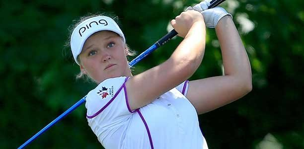 Canadian golf phenom Brooke Henderson played hockey, too