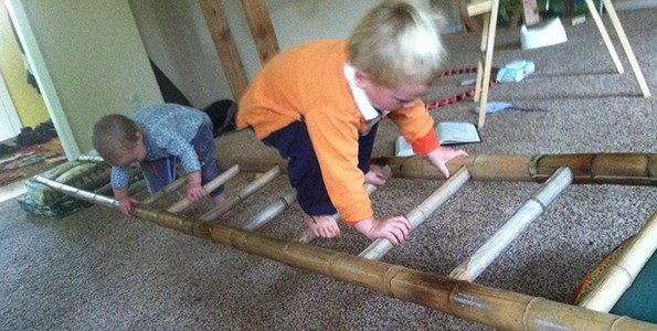 How to use a second-hand ladder to develop movement skills