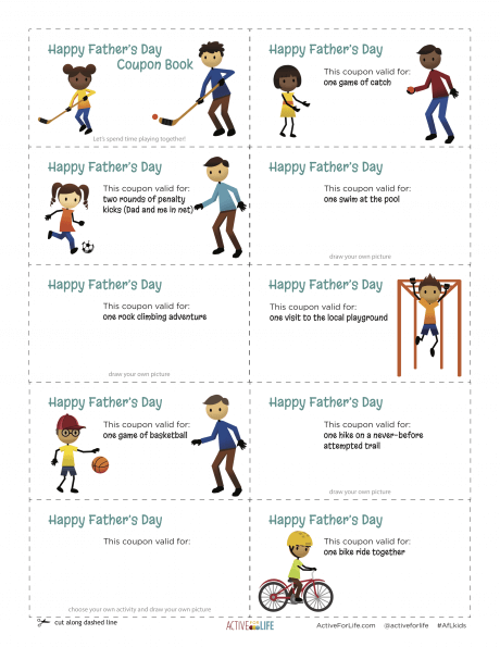 graphic about Father's Day Printable referred to as Purchase dads and small children actively playing collectively with this printable
