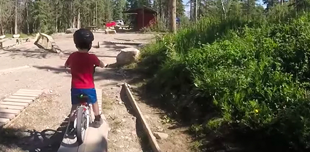 Ask The Child To Put Their Foot On Front Pedal Then Push Down Hard