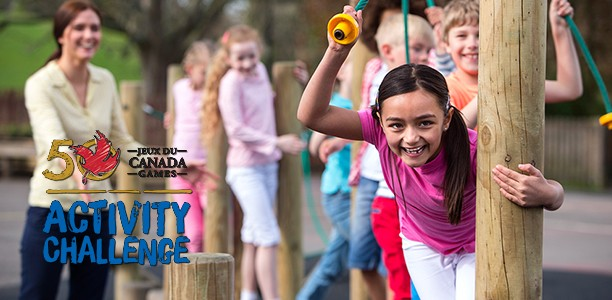 "Join thousands of kids in ""The Canada Games Activity Challenge"""