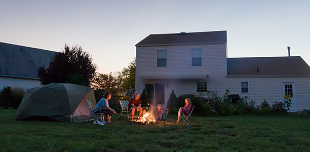 How to have all the fun of camping without leaving home