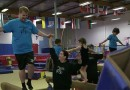 James Corden takes a gymnastics class