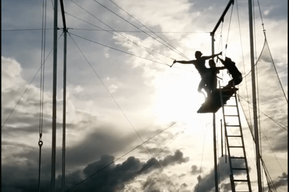 Jump outside your comfort zone with a flying trapeze