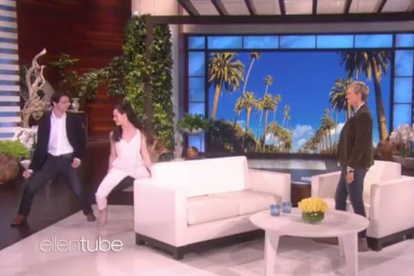 Tessa Virtue and Scott Moir dance their way onto Ellen