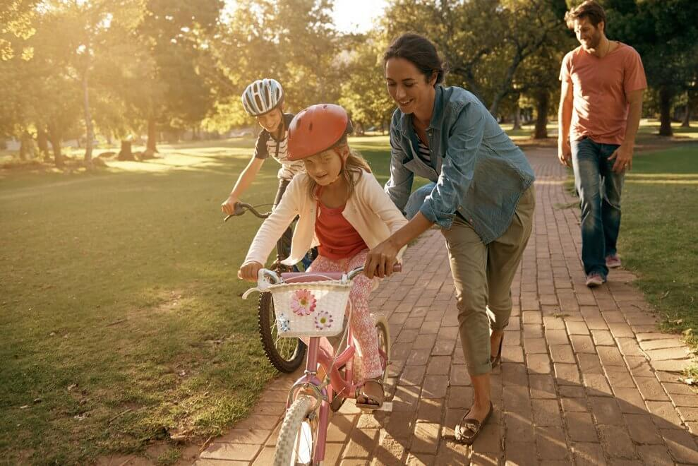 How to teach kids to pedal their bikes properly