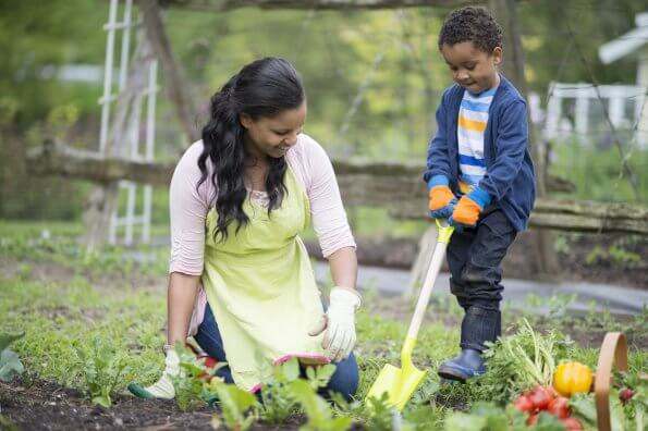 Make gardening an active family affair