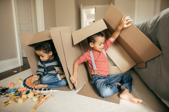 What's in a cardboard box? 12 new play ideas for kids