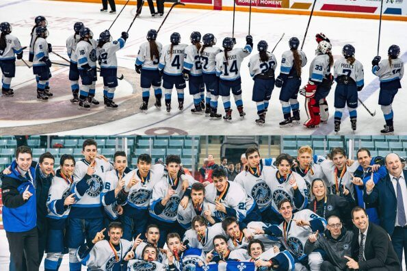 Historic performance by Quebec in men's and women's hockey at Canada Games