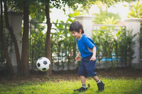 Regulating a child's emotions through soccer