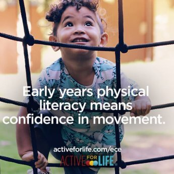 Early years physical literacy means confidence in movement.
