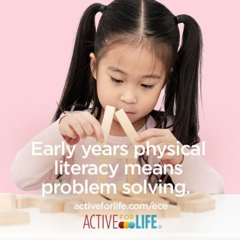 Early years physical literacy means problem solving.