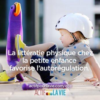 La littératie physique chez la petite enfance favorise l'autorégulation.