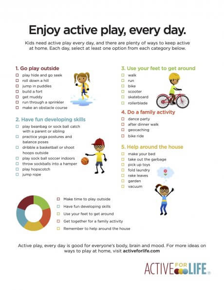 Recipe for an active day (at home)
