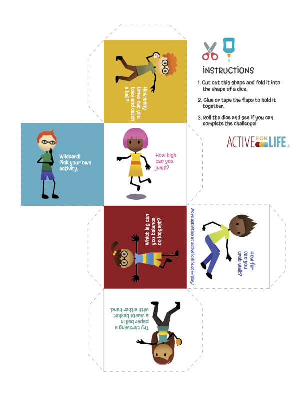 Active for Life Activity Dice