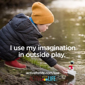 I use my imagination in outside play.