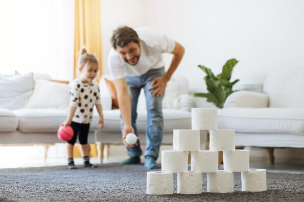 How to make a DIY indoor active play space on a budget