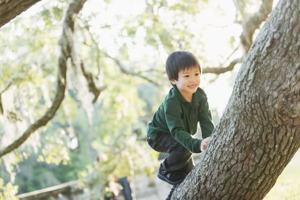 Why I love watching my kids engage in risky play outdoors