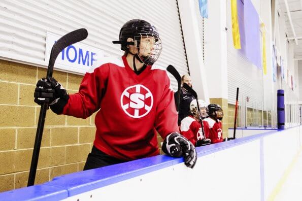 I went from hockey mom to hockey player to encourage my kids to try new things
