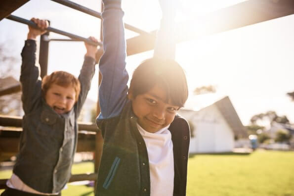 PE on the playground: 4 active games that use school playground equipment