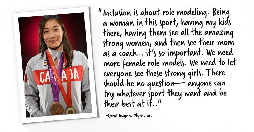 Carol Huynh Olympian quote about inclusion