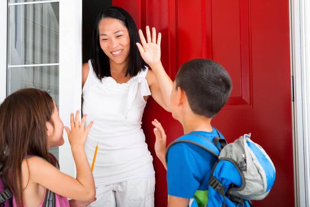 siblings leaving home for school