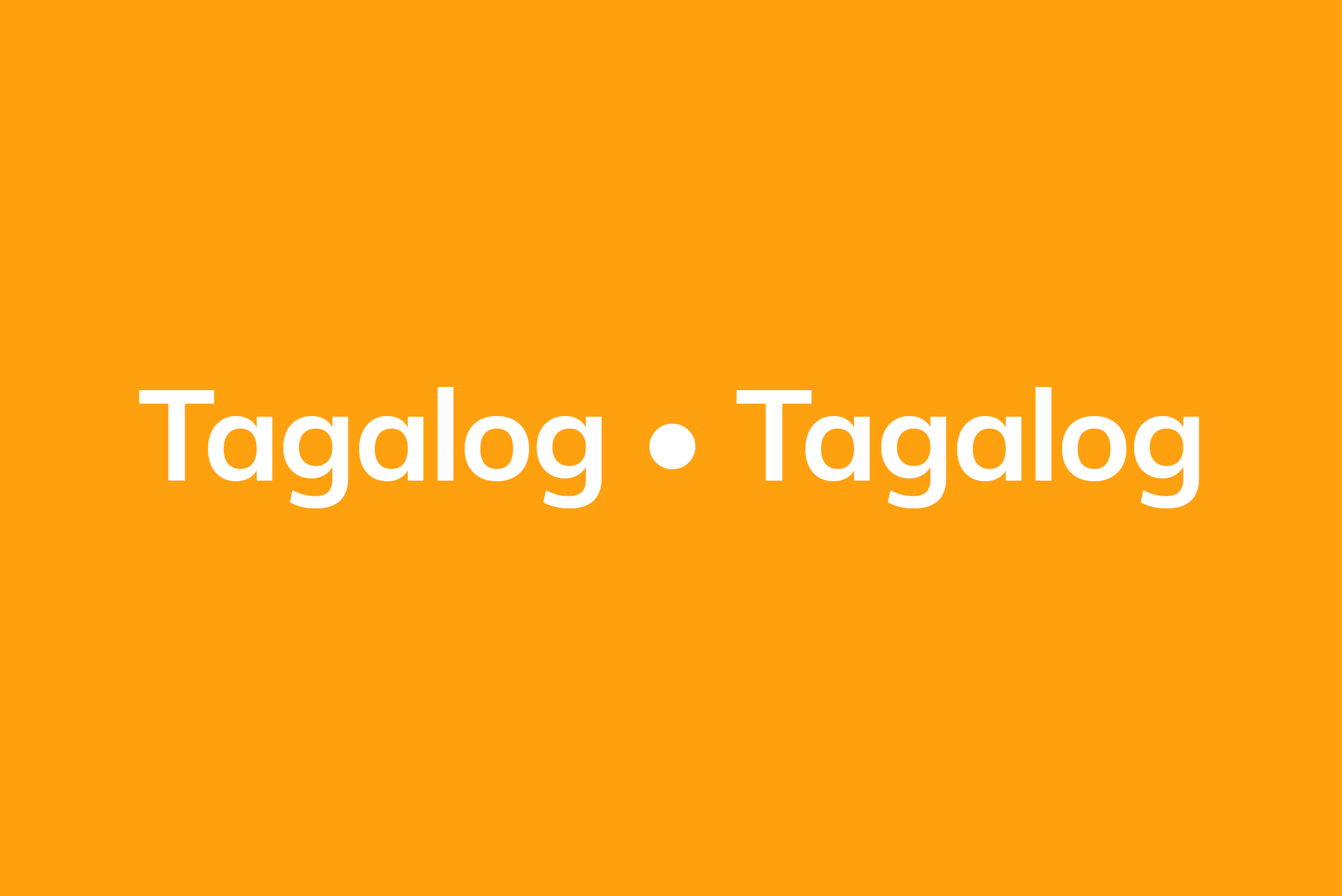 Tagalog resources